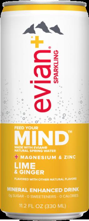 evian+ Lime & Ginger Mineral Enhanced Sparkling Drink
