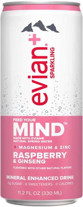 evian+ Raspberry & Ginseng Mineral Enhanced Sparkling Drink