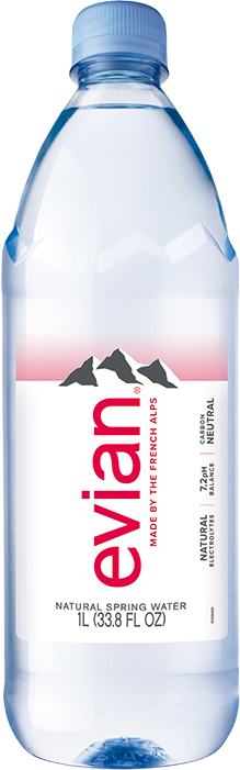 evian® 1 Liter Bottle